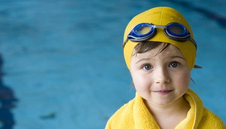 Children swimming lesson